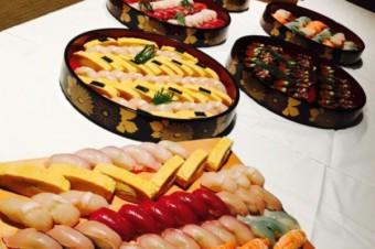 紅白握り寿司盛り合わせ