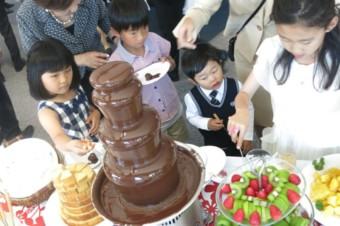 チョコレートファウンテンが人気!
